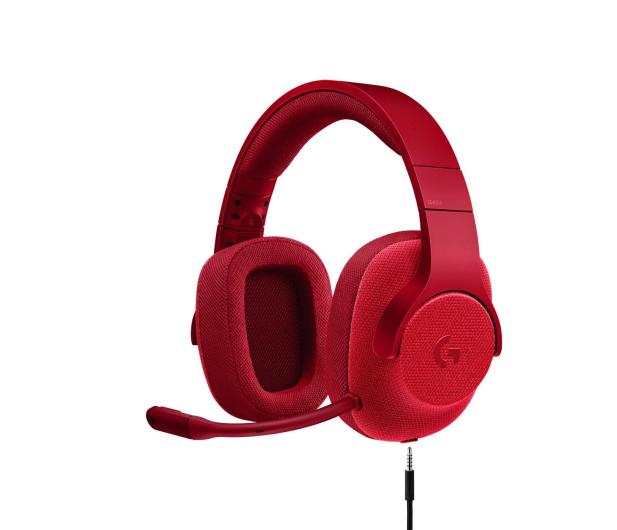 Logitech G433 Czerwone - 368360 - zdjęcie