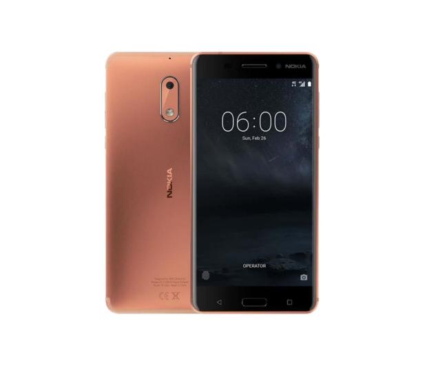 Nokia 6 Dual SIM miedziany - 357311 - zdjęcie