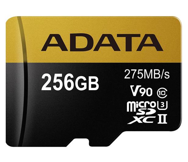 ADATA 256GB microSDXC zapis 155MB/s odczyt 275MB/s  - 374917 - zdjęcie