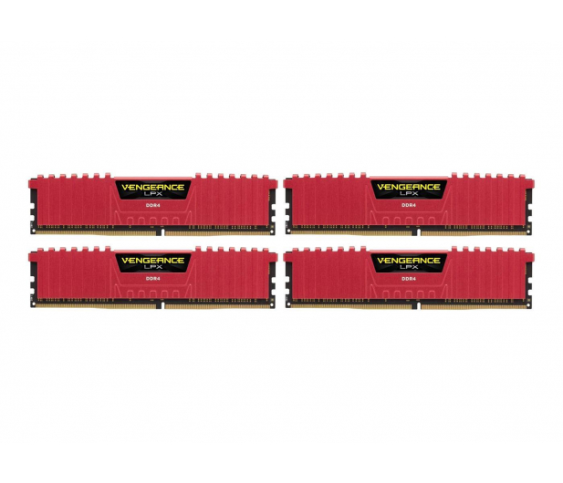 Corsair 32GB 2400MHz Vengeance LPX Red CL16 (4x8GB) - 354778 - zdjęcie