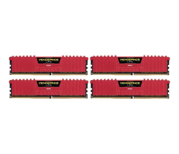 Corsair 32GB 2400MHz Vengeance LPX Red CL14 (4x8GB) - 216150 - zdjęcie