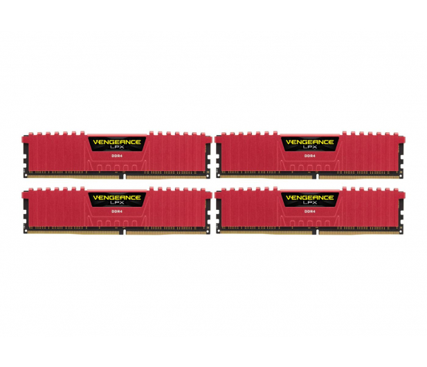 Corsair 16GB 2133MHz Vengeance LPX Red CL13 (4x4GB) - 216133 - zdjęcie