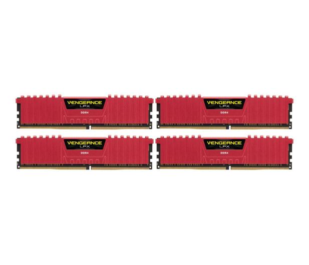 Corsair 16GB 2666MHz Vengeance LPX Red CL16 (4x4GB) - 213367 - zdjęcie