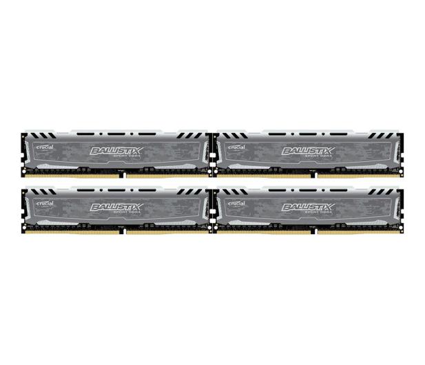 Crucial 64GB 2400MHz Ballistix Sport LT Gray CL16 (4x16GB) - 340037 - zdjęcie