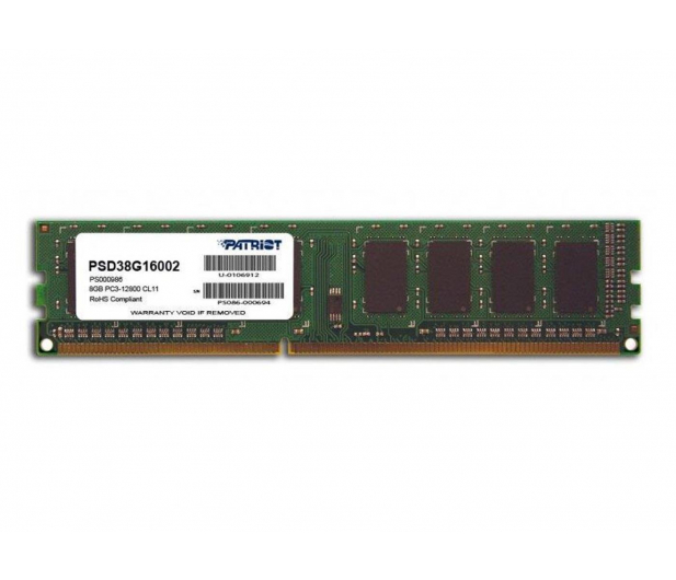 Patriot 8GB (1x8GB) 1600MHz CL11 Signature - 244482 - zdjęcie