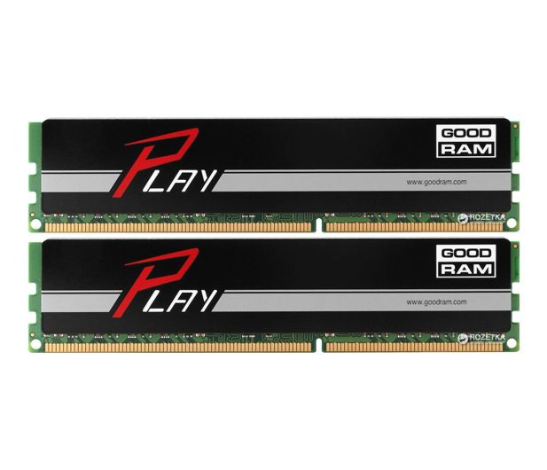 GOODRAM 8GB 1600MHz Play Black CL9 (2x4GB) - 204617 - zdjęcie