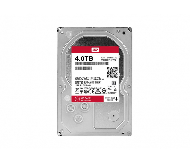 WD 4TB 7200obr. 128MB RED PRO - 306510 - zdjęcie