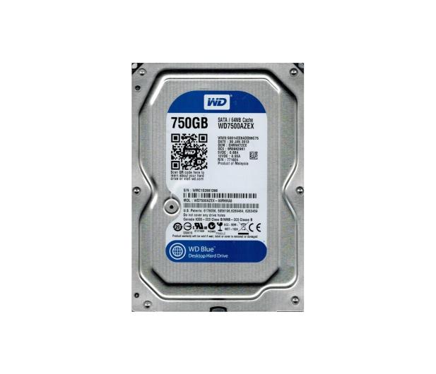 WD 750GB 7200obr. 64MB BLUE - 81295 - zdjęcie