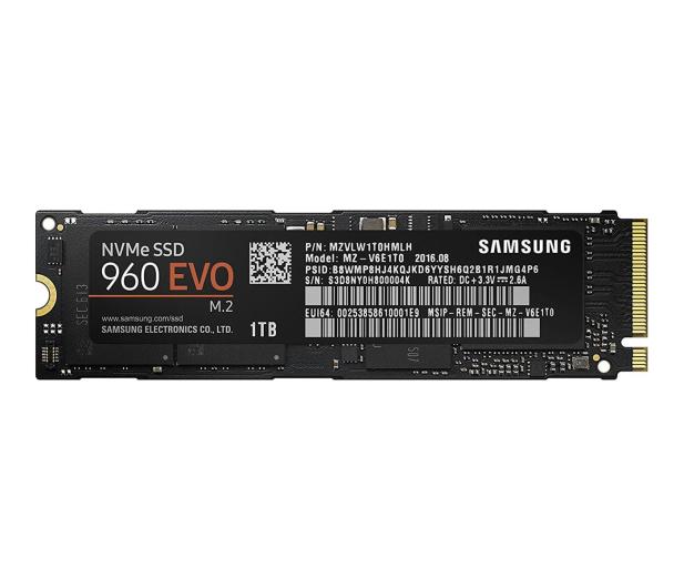 Samsung 1TB 1,8'' Seria 960 EVO M.2 2280 NVMe - 339261 - zdjęcie