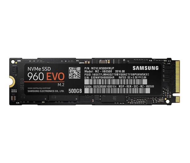 Samsung 500GB 1,8'' Seria 960 EVO M.2 2280 NVMe  - 339262 - zdjęcie 1