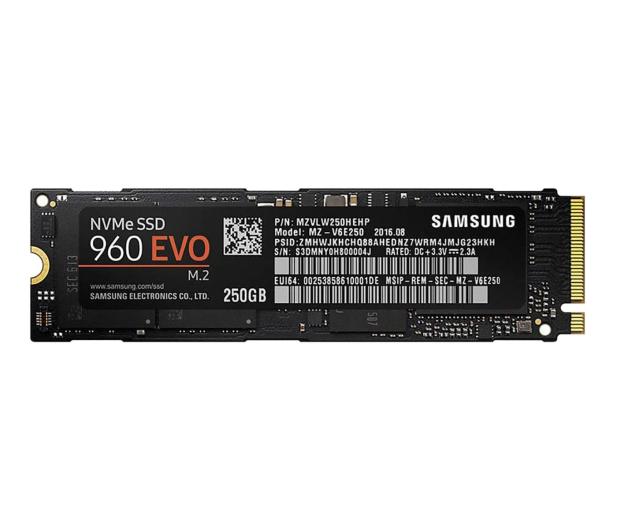 Samsung 250GB 1,8'' Seria 960 EVO M.2 2280 NVMe - 346493 - zdjęcie