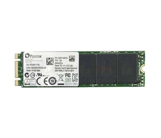 Plextor 512GB 2,5'' PCIexpress M6E M.2 Edition - 236601 - zdjęcie