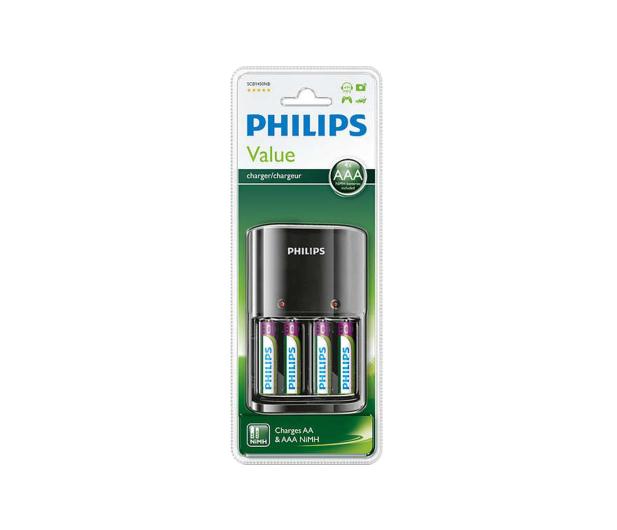 Philips Ładowarka akumulatorów AA / AAA + 4 x AAA 800mAh - 379875 - zdjęcie 2