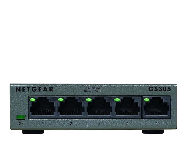 Netgear 5p GS305-100PES (5x10/100/1000Mbit) - 365076 - zdjęcie