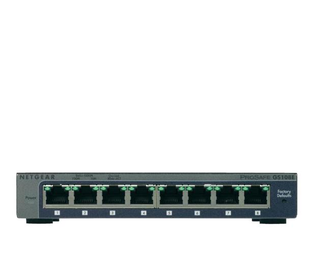 Netgear 8p GS108E-300PES (8x10/100/1000Mbit) - 209091 - zdjęcie