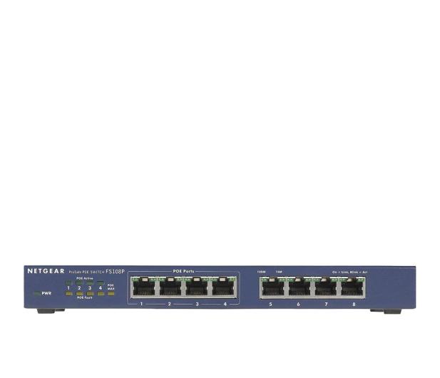 Netgear 8p FS108PEU (8x10/100Mbit, 4xPoE) - 31237 - zdjęcie