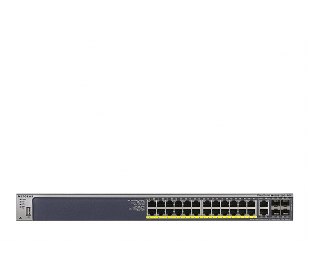 Netgear 26p M4100-26G-POE (24x10/100/1000Mbit PoE, 4xSFP) - 324024 - zdjęcie