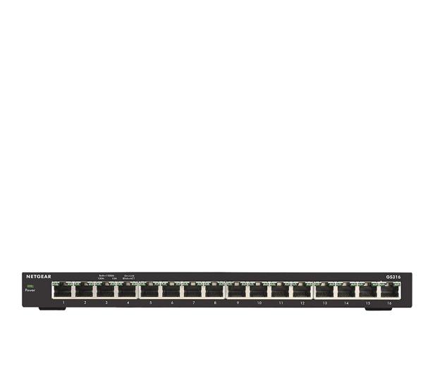 Netgear 16p GS316-100PES (16x10/100/1000Mbit) - 287133 - zdjęcie