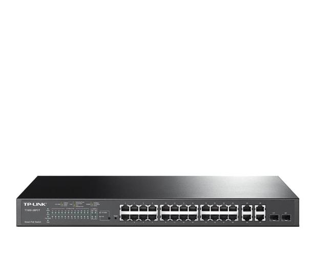 TP-Link 28p T1500-28PCT (24x100Mbit 4x1Gbit 2xSFP) PoE+ - 265442 - zdjęcie