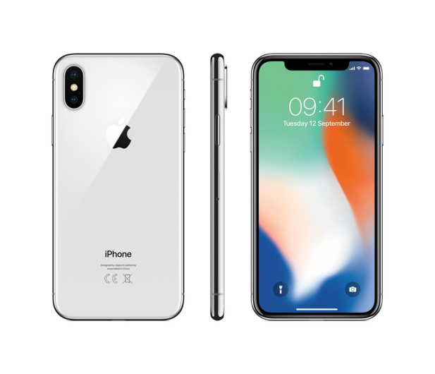 Apple iPhone X 64GB Silver  - 395951 - zdjęcie