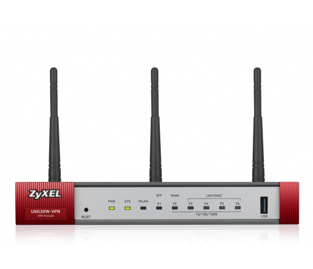 Zyxel USG20W-VPN WiFi (4x100/1000Mbit 1xWAN 1xSFP) - 359167 - zdjęcie