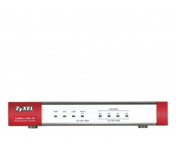 Zyxel USG20-VPN (4x100/1000Mbit 1xWAN 1xSFP) - 359166 - zdjęcie