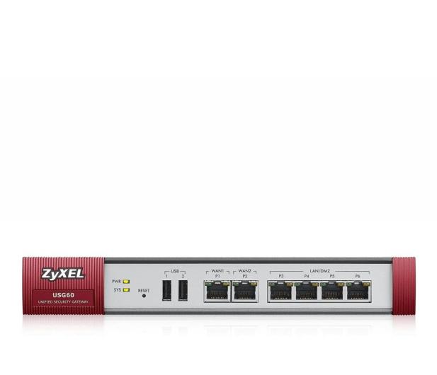 Zyxel USG60 (4x100/1000Mbit 2xWAN) +licencja 1 rok - 359177 - zdjęcie