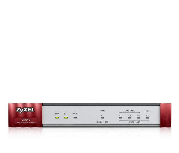 Zyxel USG40 (3x100/1000Mbit 1xWAN) +licencja 1 rok - 359170 - zdjęcie