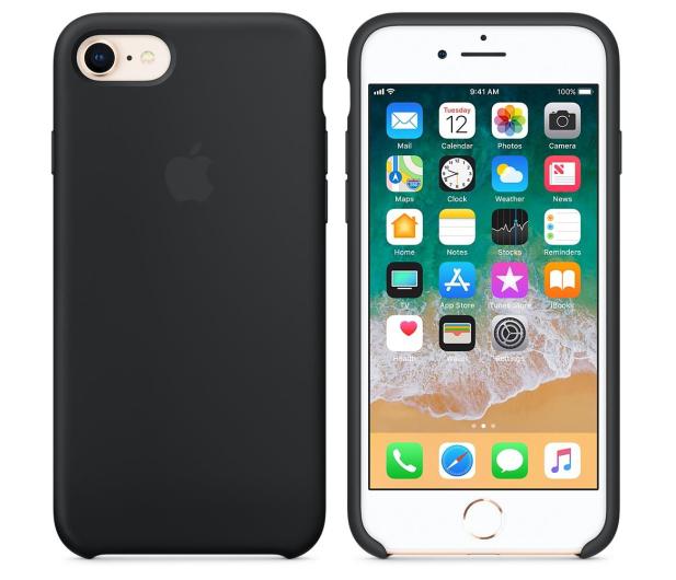 Apple Silicone Case do iPhone 7/8 Black - 384327 - zdjęcie 2