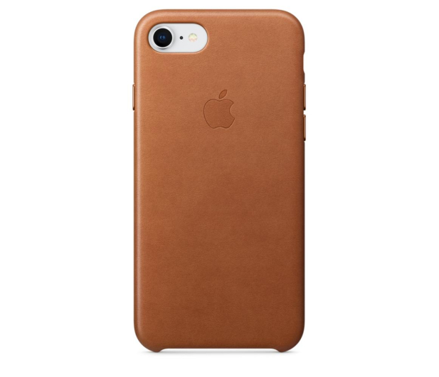 Apple Leather Case do iPhone 7/8/SE naturalny brąz - 384320 - zdjęcie