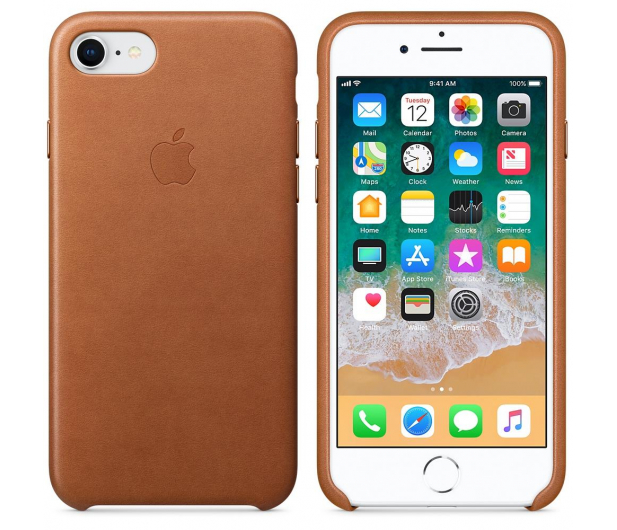 Apple Leather Case do iPhone 7/8/SE naturalny brąz - 384320 - zdjęcie 2