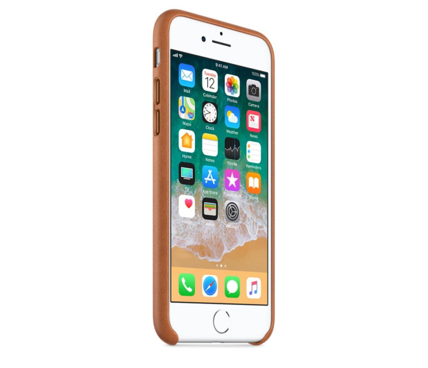 Apple Leather Case do iPhone 7/8/SE naturalny brąz - 384320 - zdjęcie 3