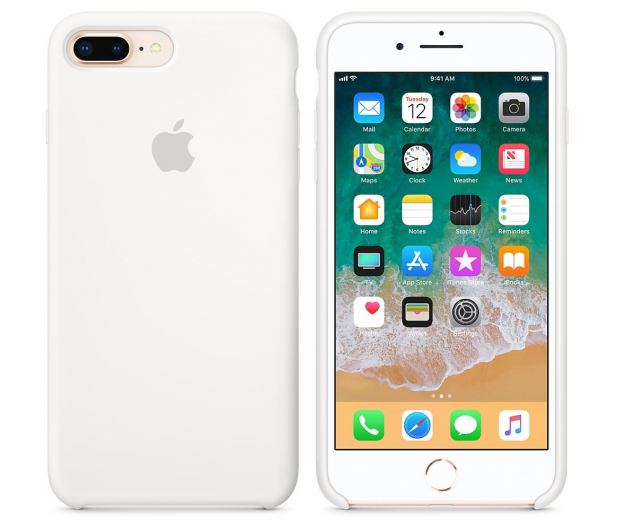 Apple Silicone Case do iPhone 7/8 Plus White - 384338 - zdjęcie 2