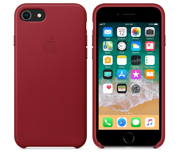 Apple Leather Case do iPhone 7/8/SE (PRODUCT) RED - 384318 - zdjęcie 2