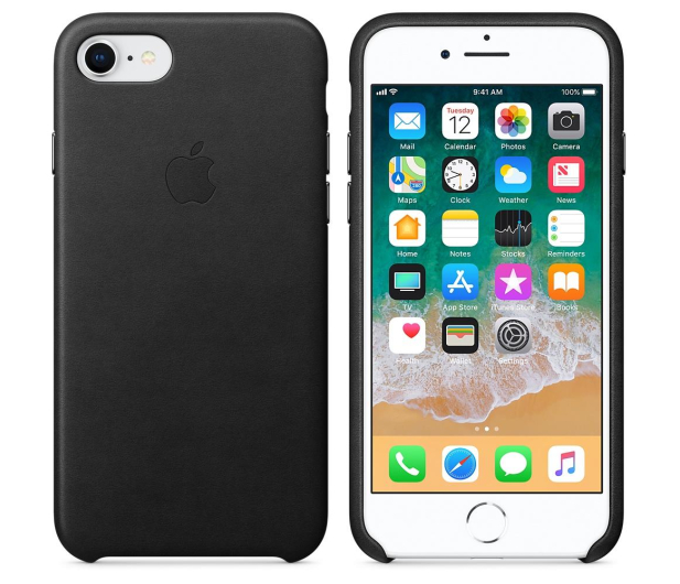 Apple Leather Case do iPhone 7/8 Black - 384317 - zdjęcie 2