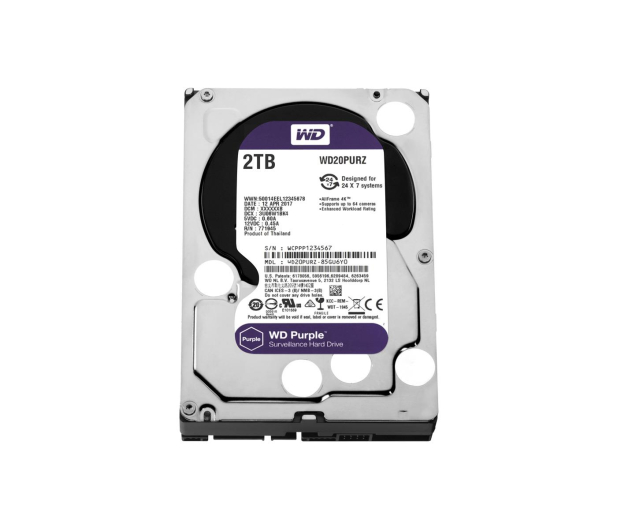 WD PURPLE 2TB IntelliPower 64MB  - 367206 - zdjęcie