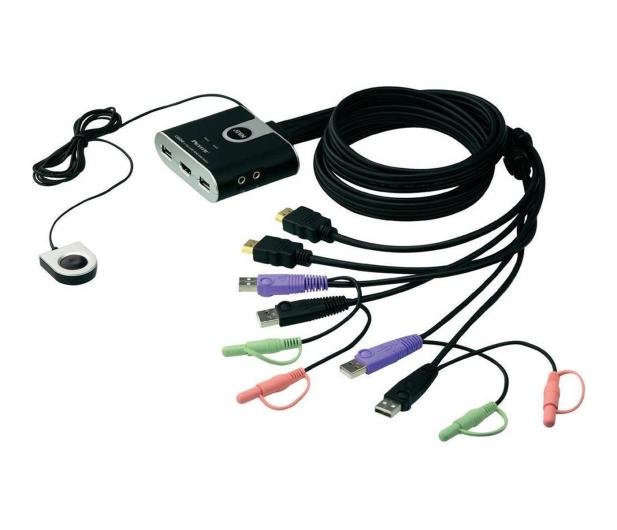 ATEN CS692-AT USB + HDMI + audio (2 komputery) 1,8m - 29881 - zdjęcie
