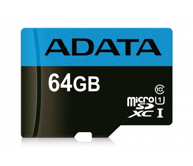 ADATA 64GB microSDXC Premier 100/25 MB/s A1 V10 - 401958 - zdjęcie
