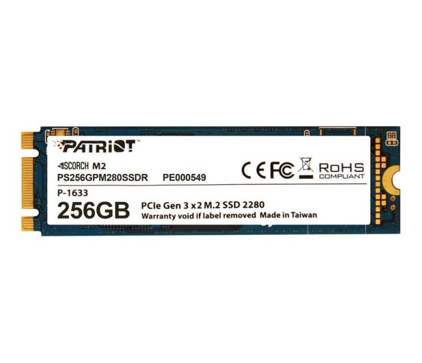 Patriot 256GB M.2 PCIe NVMe Scorch - 401814 - zdjęcie