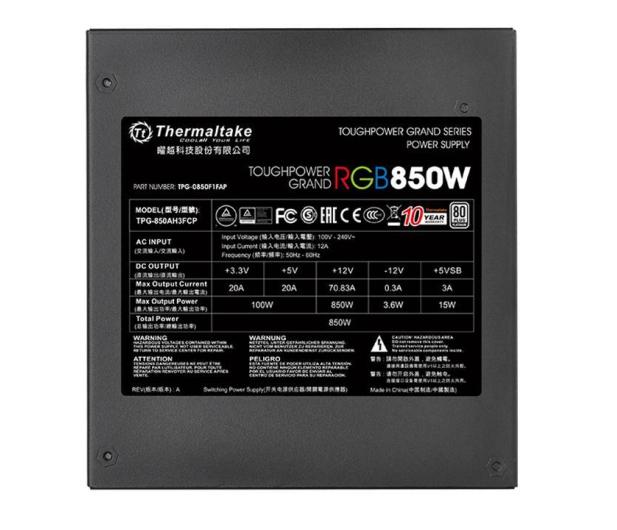 Thermaltake Toughpower Riing 850W 80 Plus Platinum - 402371 - zdjęcie 7