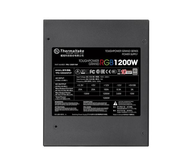 Thermaltake Toughpower Riing 1200W 80 Plus Platinum - 402378 - zdjęcie 6