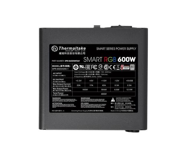 Thermaltake Smart RGB 600W 80 Plus - 402364 - zdjęcie 3