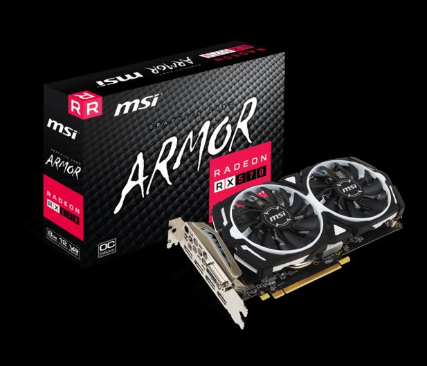 MSI Radeon RX 570 ARMOR OC 8GB GDDR5  - 405828 - zdjęcie