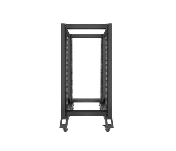 """Lanberg Stojąca 19"""" 22U 600x800mm Open Rack (czarna) - 455667 - zdjęcie 2"""