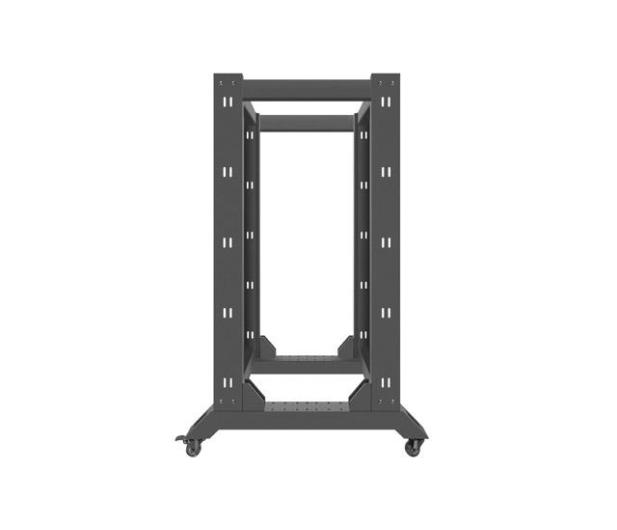 """Lanberg Stojąca 19"""" 22U 600x800mm Open Rack (czarna) - 455667 - zdjęcie 5"""