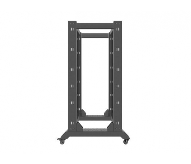 """Lanberg Stojąca 19"""" 27U 600x800mm Open Rack (czarna)  - 455670 - zdjęcie 5"""