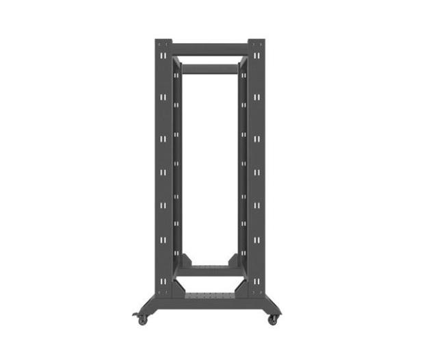 """Lanberg Stojąca 19"""" 32U 600x800mm Open Rack (czarna)  - 455671 - zdjęcie 5"""