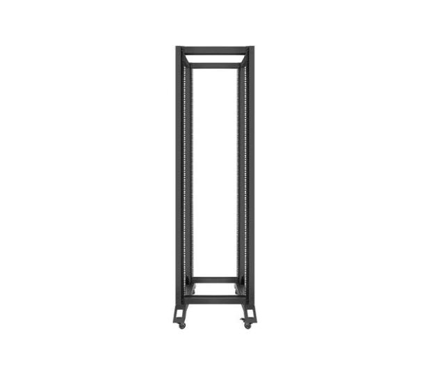 """Lanberg Stojąca 19"""" 42U 600x800mm Open Rack (czarna)  - 455672 - zdjęcie 2"""