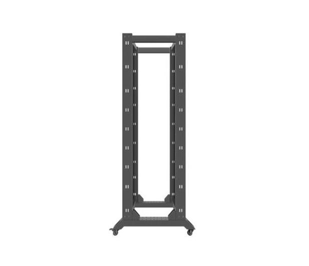 """Lanberg Stojąca 19"""" 42U 600x800mm Open Rack (czarna)  - 455672 - zdjęcie 5"""