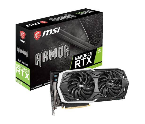 MSI GeForce RTX 2070 ARMOR 8GB GDDR6 - 456603 - zdjęcie